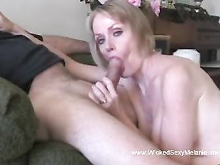 Funky Blowjob Amateur GILF Facial