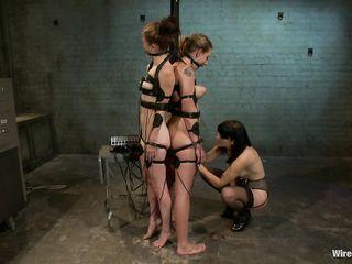Зрелая телка мастурбирует девушкам вульвы вибратором и электроигрушками