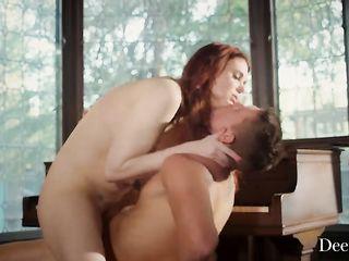 Безумный секс рыжей девушки